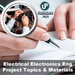 Electrical Electronics Engineering Project Topics and
